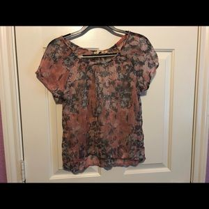 Mudd Floral Blouse
